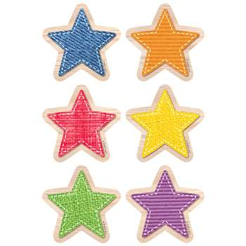 "Upcycle Style Stars 3"" Cutouts, CTP8080"