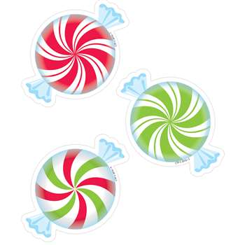 "Peppermint Candies 3"" Cutouts, CTP8085"