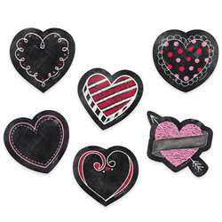 "3"" Chalk Hearts Designer Cut Outs, CTP8089"