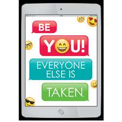Be You Emoji Fun Inspire U Poster, CTP8095