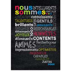 Nous Sommes French Inspire U Poster, CTP8172