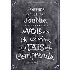 Jentends French Inspire U Poster, CTP8174