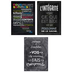 3Pk French Inspire U Posters Chalk It Up, CTP8175