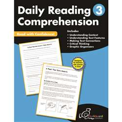 Gr3 Reading Comprehension Workbook Daily, CTP8183