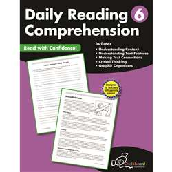 Gr6 Reading Comprehension Workbook Daily, CTP8186