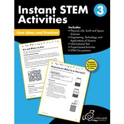 Gr3 Instant Activities Workbook Stem, CTP8195