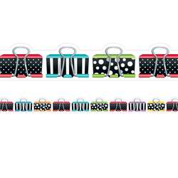 Bold Bright Binder Clips Border, CTP8348