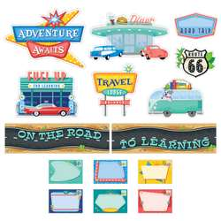 Midcentury Mod Road To Learn Mn Bulletin Board Set, CTP8444