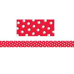 So Much Pun Doodle Dots On Red Brdr, CTP8489