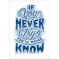 If You Never Try Inspire U Poster, CTP8585