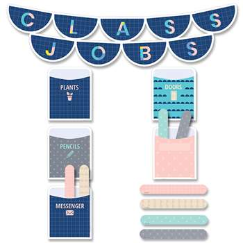 Calm & Cool Class Jobs Mini Bulletin Board St, CTP8602