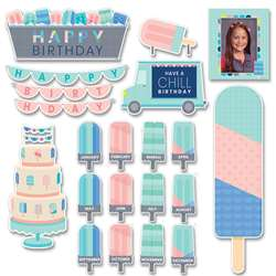 Calm & Cool Happy Bday Mini Bulletin Board St, CTP8604