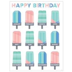 Calm & Cool Happy Birthday Chart, CTP8633