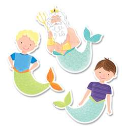 "6"" Designer Cutouts King Neptune And Friends Myst, CTP8659"