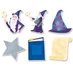 "6"" Designer Cut-Outs Wizardly Fun Mystical Magica, CTP8660"