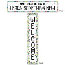 Color Pop Welcome Banner 2-Sided, CTP8669
