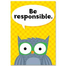 Be Responsible Woodland Friends Inspire U Poster, CTP8693