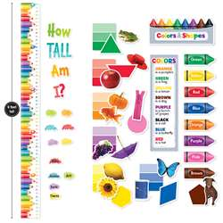Colors & Shapes Growth Chart Mini Bulletin Board P, CTP8904