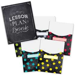 Chalk It Up Lesson Plan Book & 9X12 Library Pocket, CTP8909