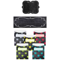 Chalk It Up Name Plate Label Pockets Combo Set, CTP8940