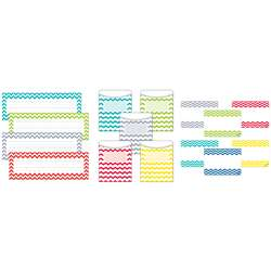 Chevron Name Plate Label Pockets Combo Set, CTP8942