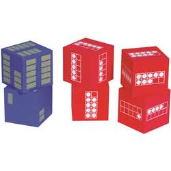 Ten Frame 6 Foam Dice 4 Red 2 Blue, CTU7297