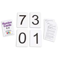 Number Cards 0 Thru 9 Black, CTU7301