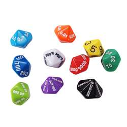 Place Value And Decimal Dice 10 Set, CTU7309