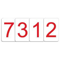 Number Cards 0 Thru 9 Red, CTU7312
