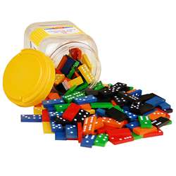 Double 6 Color Dominoes 6 Sets 168 Pcs In Storage Bucket By Learning Advantage