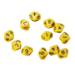 10 Sided Polyhedra Dice, CTU7340