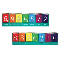 Student Place Value Flip Charts 10 Set Millions, CTU7443
