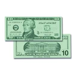$10 Bills Set 100 Bills By Learning Advantage