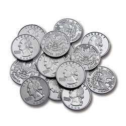 Plastic Coins 100 Quarters By Learning Advantage