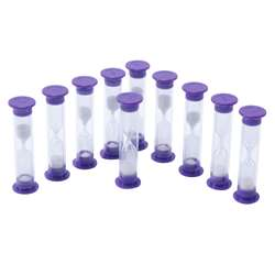 3 Minute Sand Timers Set Of 10, CTU7626