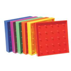 "5"" Plastic Geoboards 5X5 Pin Array, CTU7728"
