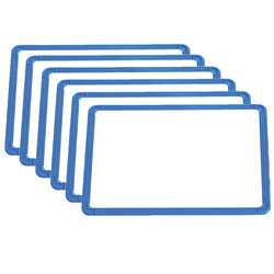 Magnetic Plastic Framed Whiteboards Set Of 6, CTU7859