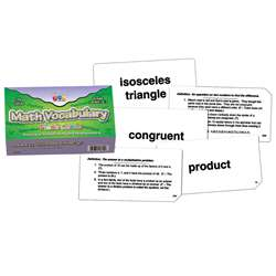 Math Vocabulary Flash Cards, CTU8612