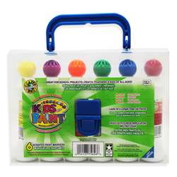 Crafty Dab Paint 6 Pk W/Carrying Case By Crafty Dab