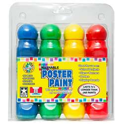 Poster Paint 4 Pack Clamshell By Crafty Dab