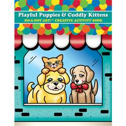 Playful Puppies & Cuddly Kittens Do A Dot Art Creative Activity Book By Do-A-Dot Art