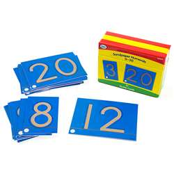 Tactile Sandpaper Number Cards 0-20, DD-211211