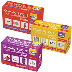 Collaborative Cards 3 Sets Gr 6-8 Common Core, DD-211263