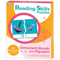 Reading Skills Puzzles Consonant Blends And Digrap, DD-211297