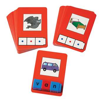 Cvc Word Building Cards 24 Cards By Didax