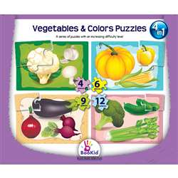 "Vegetables & Colors 4 "" 1 Puzzles, DEX1919"