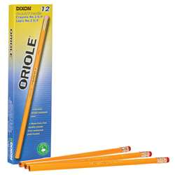 Oriole Pencils No 25 Unsharp 12Bx Medium Yellow, DIX12875