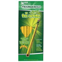 Laddie Tri Write Pencils 36Ct With Eraser Intermediate By Dixon Ticonderoga