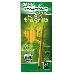 Laddie Tri Write 36Ct Intermediate Pencils Without Eraser By Dixon Ticonderoga