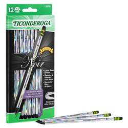 Noir Pencils No 2 Soft Pack Of 12 Ticonderoga Pres, DIX13970